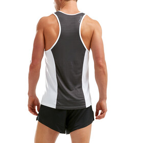 2XU X-VENT Singlet Tank Top Men white/charcoal